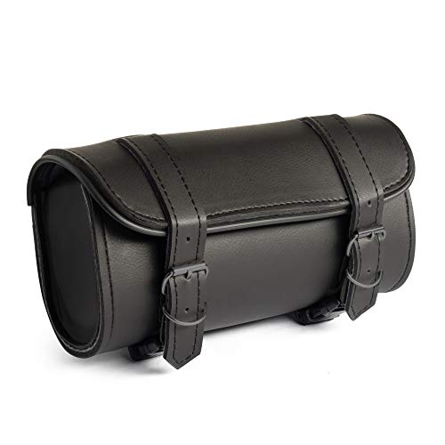 Water Resistant d 22 Soft Travel Leather Like Traditional 3 Pouch Style Bags The Nekid Cow The Best Motorcycle Black Three Pocket Studded Windshield PVC Leather Bag from Brand
