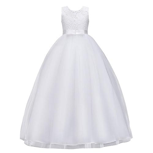 MYRISAM Baby Girls 1st//2nd Birthday Dress Bowknot Flower Lace Dresses Wedding Pageant Christening Baptism Tutu Gown