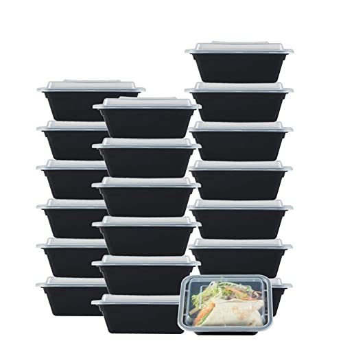 f4cca1e14e9 NutriBox [20 value pack] single one compartment 12oz mini Meal Prep Food  Storage Containers