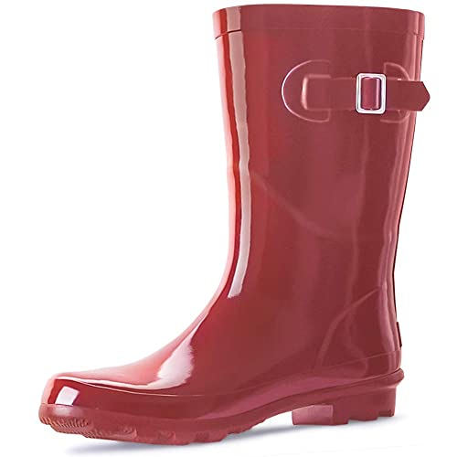 landchief Womens Rubber Rain Boots Printed Waterproof Women Rain Footware Garden Boots