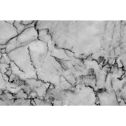 Black and White Natural Marble Texture Background Polyester Photography Backdrop 8x6.5ft Plain Pattern Wall Backdrop Children Adults Portraits Shoot Pets Product Photo Prop Wallpaper