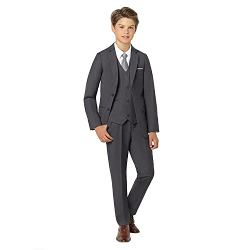 1-14 Years Paisley of London Sampson Oliver Chambray Suit Boys Grey Waistcoat Prom Suit