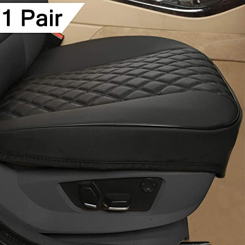 Black and Burgundy Black Panther 1 Pair Luxury PU Leather Car Seat Covers Protectors for Front Seats Bottom 21.26/×20.86 Inches ,Compatible with 90/% Vehicles