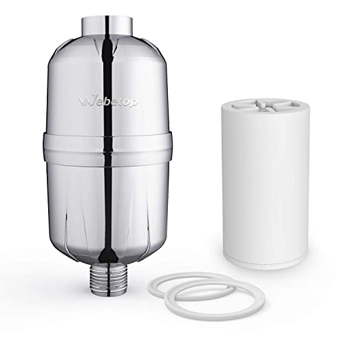 Hair 17 Stage High Output Universal Shower Head Purifier with 2 Replacement Cartridges Water Softener Remove Chlorine Fluoride and Improve Condition of Skin Nails/… Shower Filter for Hard Water