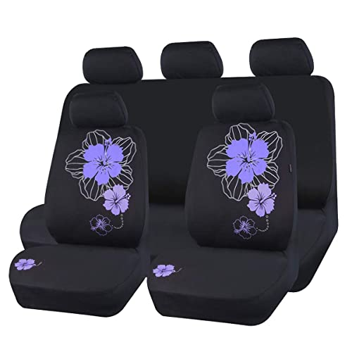 Black And Rose Red Car Pass Pretty Butterfly Universal Steering Wheel Cover,Fit for Suvs,Vans,Trucks,Sedans,Cars