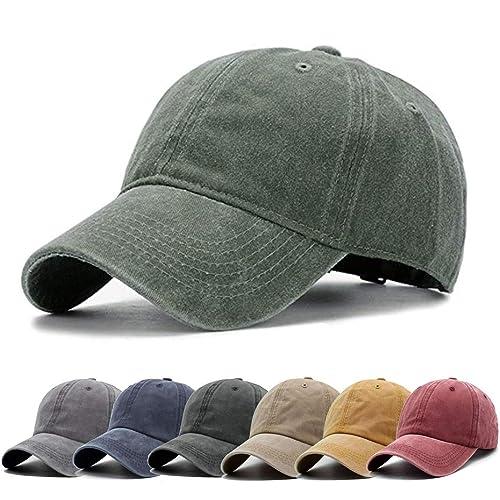 e70c471e2 Buy Aedvoouer Unisex Washed Twill Cotton Baseball Cap Vintage ...