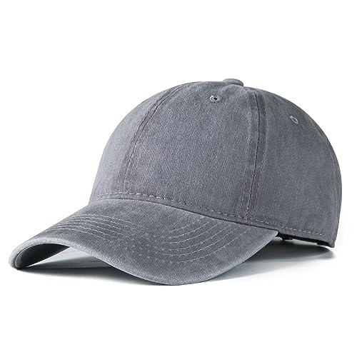 1e77cb4f5 Edoneery Men Women Plain Cotton Adjustable Washed Twill Low Profile  Baseball Cap Hat(A1008)