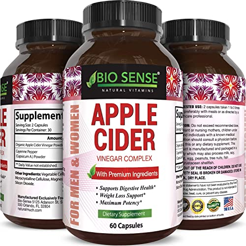 Apple Cider Vinegar Pills For Weight Loss Extra Strength Fat Burning Supplement Pure Detox Cleanse Digestion Support Natural Apple Cider