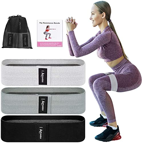 Set of Three Non-Slip High Quality Fabric AUS Resistance Exercise Booty Bands