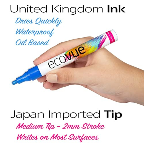 Buy Vibrant Oil Based Paint Pens 12 Bold Colors In Vivid
