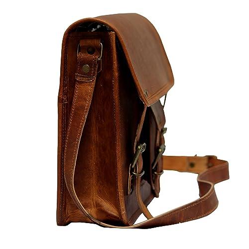 ba0534d3f199 Buy TLC 11 Inch Leather Messenger Bag Laptop Bag Crossbody Bags for ...