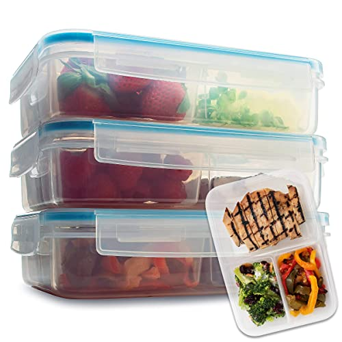 db9a498a33f Komax Biokips Set of 3 Lunch Containers | 37-oz Compartment Divided Lunch  Containers